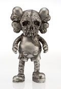 Fine Art - Sculpture, American:Contemporary (1950 to present), KAWS X Pushead. Companion (Silver), 2005. Painted castvinyl. 10-1/2 x 5-1/2 x 3-1/2 inches (26.7 x 14.0 x 8.9 cm).Stam...