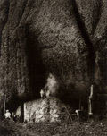 Photographs:Gelatin Silver, Max Yavno (American, 1911-1985). Untitled (Cave dwelling with smoke), 1981. Gelatin silver. 19-1/4 x 15-1/2 inches (48.9...