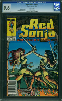 Red Sonja V3#2 (Marvel, 1983) CGC NM+ 9.6 WHITE pages