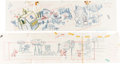 Animation Art:Concept Art, Destination Earth Pan Layout Drawings Group of 6 (John Sutherland, 1956).... (Total: 6 Original Art)