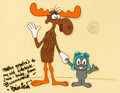 Animation Art:Production Cel, Rocky and Bullwinkle Bill Scott Signed Scene Cel (Jay Ward, 1970's/80's).... (Total: 2 Original Art)