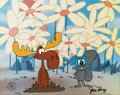 Animation Art:Limited Edition Cel, Rocky and Bullwinkle Coming Up Daisies Limited Edition CelHC #10/10 (Jay Ward, 1990's)....