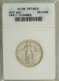Standing Liberty Quarters: , 1917 25C Type One--Cleaned--ANACS. AU58 Details. NGC Census: (74/1107). PCGS Population (235/1559). Mintage: 8,740,000. Num...
