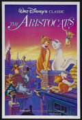 "Movie Posters:Animated, The Aristocats (Buena Vista, R-1987). One Sheet (27"" X 41"").Animated Comedy. Starring the voices of Eva Gabor, Phil Harris,..."