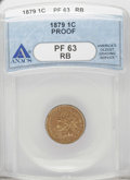 Proof Indian Cents: , 1879 1C PR63 Red and Brown ANACS. NGC Census: (14/159). PCGS Population (51/231). Mintage: 3,200. Numismedia Wsl. Price: $1...