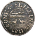 Colonials: , 1783 SHLNG Chalmers Shilling, Long Worm VF35 PCGS. Breen-1012. Asecond and finer example of t...