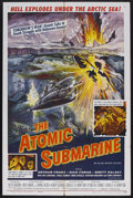 """Movie Posters:Science Fiction, The Atomic Submarine (Allied Artists, 1959). One Sheet (27"""" X 41"""").Sci-Fi Thriller. Starring Arthur Franz, Dick Foran, Bret..."""