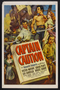 "Movie Posters:Adventure, Captain Caution (United Artists, 1940). One Sheet (27"" X 41"").Adventure. Starring Victor Mature, Louise Platt, Leo Carrillo..."