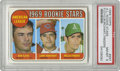 Baseball Cards:Singles (1960-1969), 1969 Topps A.L. Rookie Stars Floyd, Burchart, Fingers #597 PSANM-MT 8. The man with the mustache appears clean shaven on t...