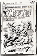 Original Comic Art:Covers, Don Perlin - Werewolf By Night #38 Cover Original Art (Marvel,1976). ...