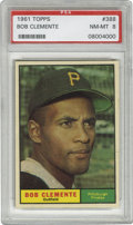 Baseball Cards:Singles (1960-1969), 1961 Topps Bob Clemente #388 PSA NM-MT 8. If he looks a littlesmug, he has a right. The Hall of Fame Pittsburgh Pirate was...