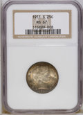 Barber Quarters: , 1911-S 25C MS67 NGC. NGC Census: (7/1). PCGS Population (4/0).Mintage: 988,000. Numismedia Wsl. Price: $8,850. (#5661)...