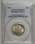 Standing Liberty Quarters: , 1916 25C MS66 Full Head PCGS. PCGS Population (9/4). NGC Census: (16/3). Mintage: 52,000. Numismedia Wsl. Price: $30,500. (...