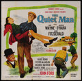 "Movie Posters:Drama, The Quiet Man (Republic, R-1957). Six Sheet (81"" X 81""). RomanticComedy. Starring John Wayne, Maureen O'Hara, Barry Fitzger..."