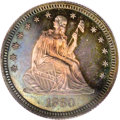 Proof Seated Quarters: , 1880 25C PR66 PCGS. Only 14,955 quarters were struck in total in1880, of which 1,355 pieces were proofs. This is a richly ...
