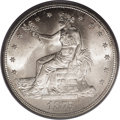 Trade Dollars: , 1875-S T$1 MS65 PCGS. Type One Reverse. Large S mintmark. Quite afew Trade dollars were set aside as novelties at the time...