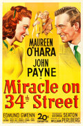Movie Posters:Comedy, Miracle on 34th Street (20th Century Fox, 1947). O...