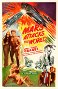 "Movie Posters:Science Fiction, Mars Attacks the World (Filmcraft, R-1950). One Sheet (27"" X 41"")Feature Version of Flash Gordon's Trip to Mars.. ..."
