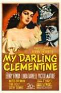 "Movie Posters:Western, My Darling Clementine (20th Century Fox, 1946). One Sheet (27"" X 41"") Sergio Gargiulo Artwork... ..."