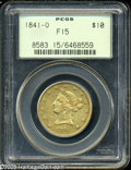 Liberty Eagles: , 1841-O $10 Fine 15 PCGS. The first New Orleans issue of thedenomination, and since the mintage was limited to 2,500 pieces...