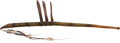 Military & Patriotic:Indian Wars, Exceptional Plains Elaborately Tacked War Club, with Three Bladesmade of Green River Blades. ...