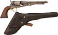 Handguns:Single Action Revolver, Colt Model 1860 Army Revolver with Period Holster....
