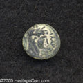 Ancients:Roman, Ancients: Samaria, Sebaste. Domitian. 81-96 C.E. AE 12 mm (1.14 g).Laureate head right / Upright sword. Rosenberger III p. 55, 11;Me...