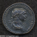 Ancients:Roman, Ancients: Trajan. A.D. 98-117. AE as (27 mm, 11.98 g). Rome, A.D.115-116. Laureate and draped bust right / Victory advancing right,h...