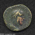 Ancients:Roman, Ancients: Pupienus. A.D. 238. AE sestertius (28 mm, 16.16 g). Rome.Laureate, draped, and cuirassed bust right, seen from behind /Lib...