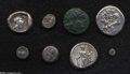 Ancients:Greek, Ancients: Lot of eight miscellaneous Greek coins. Includes (all ARunless otherwise noted): Lucania, Sybaris // Thracian Dynasts.Adai... (Total: 8 coins Item)