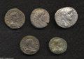 Ancients:Roman, Ancients: Lot of five Roman Provincial tetradrachms, mostly Alexandrian. Includes: Syria, Antioch. Nero // Egypt, Alexandria. Antoninu... (Total: 5 coins Item)