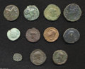 Ancients:Roman, Ancients: Lot of eleven miscellaneous AE, mostly Roman Imperial.Includes: Sextus Pompey. As (2) // Asia Minor. Augustus //Augustus. ... (Total: 11 coins Item)