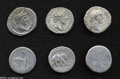 Ancients:Roman, Ancients: Lot of six Roman Imperatorial and Imperial denarii.Includes: Julius Caesar. Elephant // Mark Antony. Legionary issues(2) /... (Total: 6 coins Item)