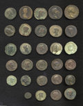 Ancients:Roman, Ancients: Lot of twenty-nine Roman Imperial AE. Includes: Augustus(2) // Agrippa // Drusus // Nero (6) // Titus // Trajan (2) //Anto... (Total: 29 coins Item)