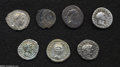 Ancients:Roman, Ancients: Lot of six Roman Imperial AR. Includes (all denariiunless otherwise noted): Augustus // Vespasian. Judaea. MarcusAurelius ... (Total: 6 coins Item)