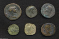 Ancients:Roman, Ancients: Lot of six Roman Imperial AE. Includes: Agrippa. As //Trajan. Sestertius. Bridge. Antoninus Pius. As // SeptimiusSeverus. ... (Total: 6 coins Item)