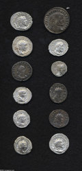 Ancients:Roman, Ancients: Lot of twelve miscellaneous Roman coins. Includes (alldenarii or double denarii unless otherwise specified): Commodus //Ca... (Total: 12 Coins Item)