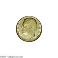 Albania: , Albania: Zog gold 100 Franga Ari 1927R, KM11a.3, two stars belowthe bust, AU-UNC, fully lustrous, typical small surface marks....