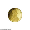 Austria: , Austria: Franz Joseph I gold 4 Ducat 1872-A, KM2274, prooflike AU, frosted bust creating an attractive cameo effect, minor contact ma...