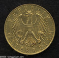 Austria: , Austria: Republic gold 100 Schilling 1929, KM2842, AU, harshlycleaned with a few scratches and two tiny digs near the rim. Fromthe ...