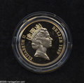 Belize: , Belize: Elizabeth II gold 250 Dollars 1989, KM98, choice Proof in the case of issue with mint descriptive card. Only 500 estimated m...