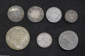 Brazil: , Brazil: Portuguese Colonial Silver Selection, 160 Reis 1695, crudeFine but large portions flat and mint uncertain, bold date,KM156... (Total: 7 coins Item)