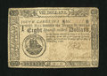 Colonial Notes:South Carolina, South Carolina December 23, 1776 $8 Very Fine....