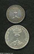 Chile: , Chile: Republic 1 and 2 Reales - Pair, KM91 Real 1834-IJ, lightlytoned VF-XF, very appealing example, and KM92 2 Reales 1834-IJ,V... (Total: 2 coins Item)