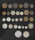 Chile: , Chile: Republic Type Collection of Minors, a wide variety of typesincluding: Copper 1835-1853, eight coins featuring the 1 Centavo...(Total: 29 coins Item)