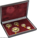 China: , China: People's Republic 1986 5-piece Gold Panda Proof Set, KM-PS20, 1 Oz, 1/2 Oz, 1/4 Oz, 1/10 Oz, and 1/20 Oz, all Gem Proof in t... (Total: 5 coins Item)