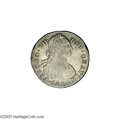 Colombia: , Colombia: Ferdinand VII 8 Reales 1814/3-JF, KM71, lightly toned VF, an appealing example of this rare coinage. Interestingly, the coin...