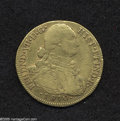 Colombia: , Colombia: Ferdinand VII gold 8 Escudos 1810-NR-JF, KM66.1, VF,small surface marks but a decent example. From the Dr. Kurt PetersColl...