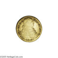 Colombia: , Colombia: Ferdinand VII gold 8 Escudos 1819-P-FM, KM66.2, XF, someluster and nicely struck, light scratch in the right obversefield....