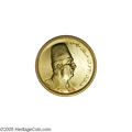 Egypt: , Egypt: King Fuad gold 500 Piastres 1922 AH1340, KM355, UNC withbrilliant, prooflike luster, noticeable handling in the obversefie...